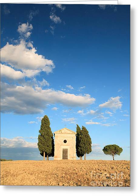 Little Chapel In Tuscany Greeting Card by Matteo Colombo
