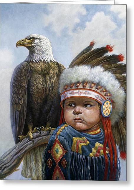 Little Chief Greeting Card by Gregory Perillo