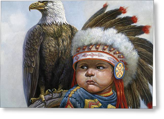 Little Chief Greeting Card