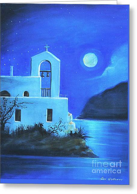 Greeting Card featuring the painting Little Church By The Sea by S G