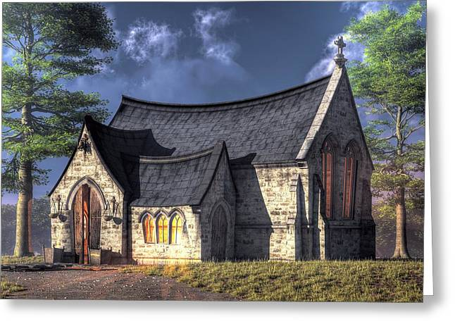 Little Church Greeting Card by Christian Art