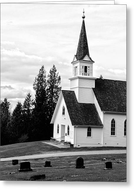 Little Church On The Hill Greeting Card by Marv Russell