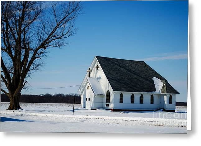 Little Church On The Prairie Greeting Card by Luther Fine Art