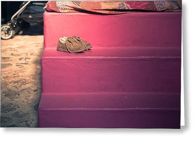 Little Cinderella Shoes Greeting Card by Georgina Noronha
