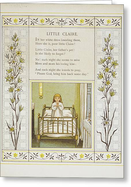 Little Claire Greeting Card