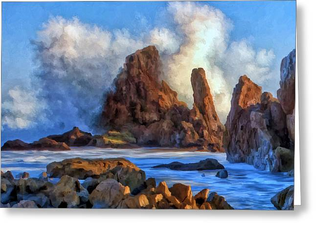 Greeting Card featuring the painting Little Corona by Michael Pickett