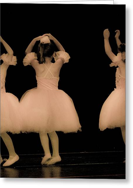 Little Dancers Greeting Card by Christie Kowalski