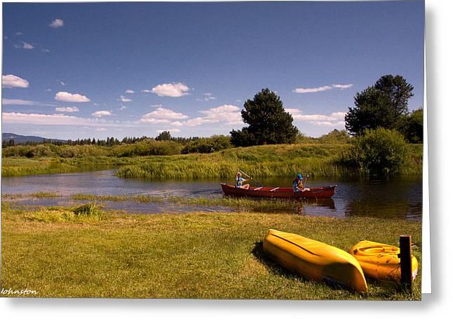 Little Deschutes River Bend Sunriver Thousand Trails Greeting Card