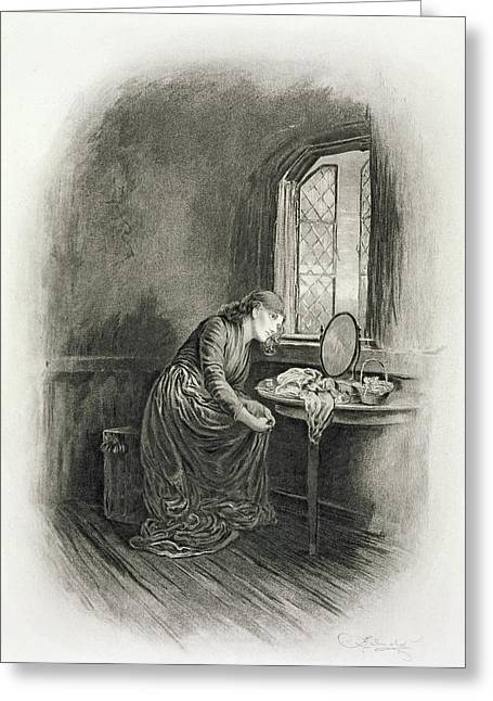 Little Dorrit, From Charles Dickens A Greeting Card by Frederick Barnard