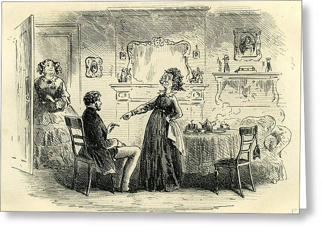 Little Dorrit Rigour Of Mr Greeting Card by English School