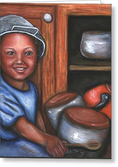 Little Drummer Boy Greeting Card by Alga Washington