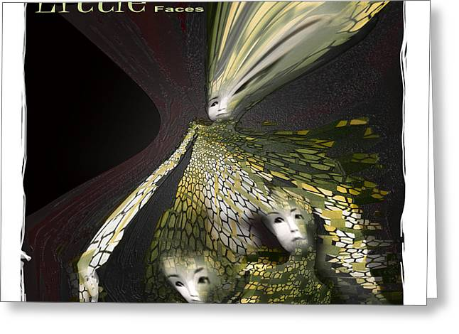 Little Faces Greeting Card by Bob Salo