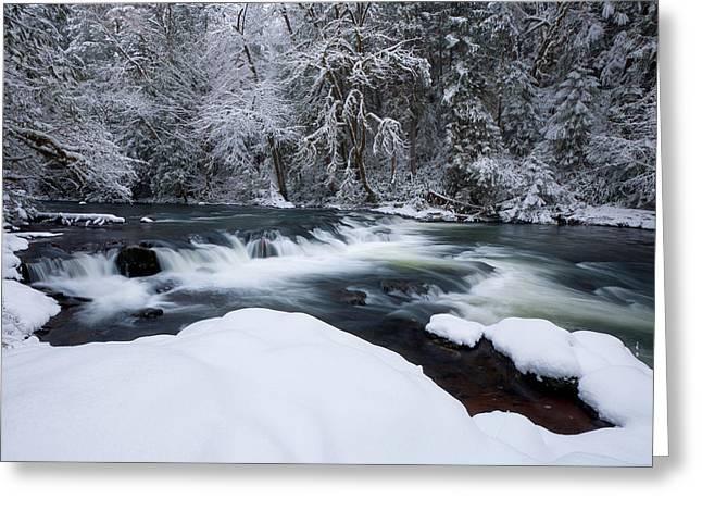 Little Fall Creek Winter Greeting Card