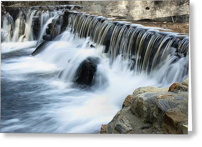 Greeting Card featuring the photograph Little Falls by Raymond Earley