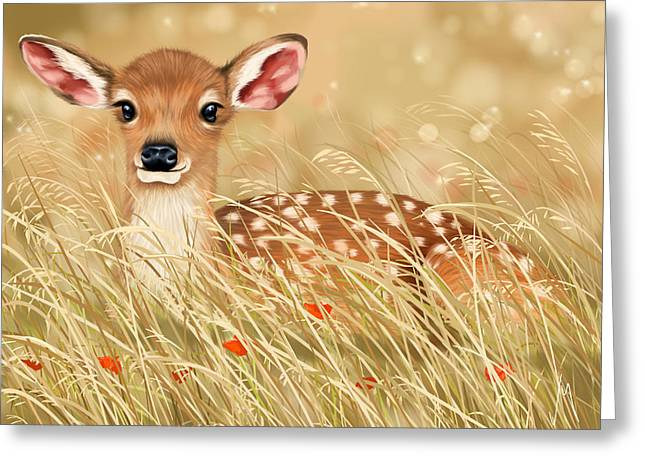 Little Fawn Greeting Card by Veronica Minozzi