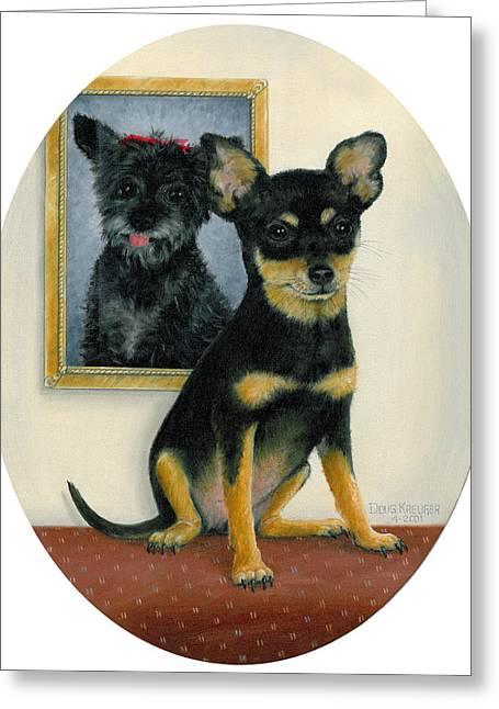 Little Friends Greeting Card by Doug Kreuger