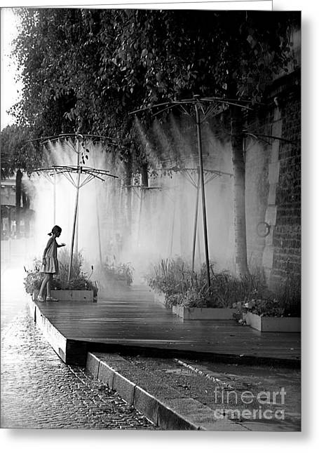Little Girl At Paris Plages II Greeting Card by Louise Fahy