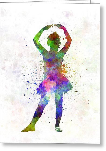 Little Girl Ballerina Ballet Dancer Dancing Greeting Card by Pablo Romero