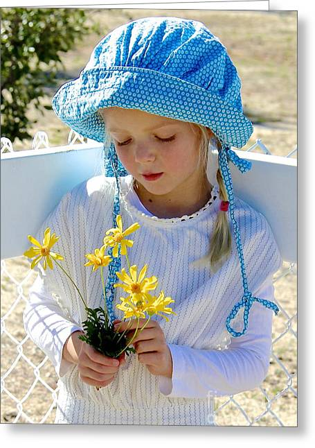 Little Girl Blue  Greeting Card