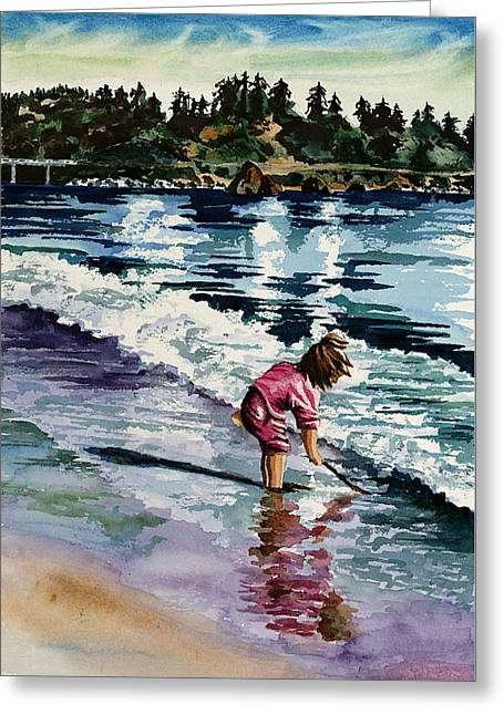 Little Girl In Pink Greeting Card