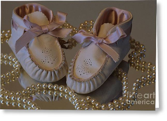 Little Girls To Pearls Greeting Card by Sharon Elliott