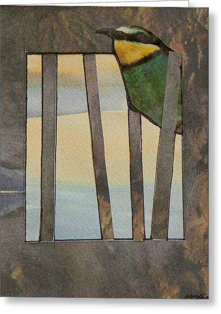 Little Green Bird Greeting Card