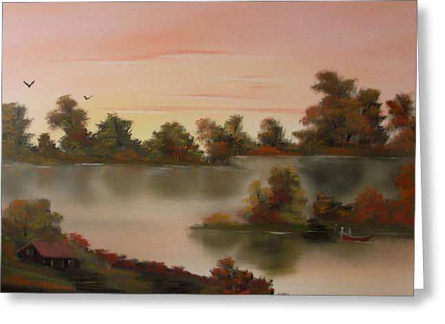 Little Haven At Sunset Greeting Card by Cynthia Adams