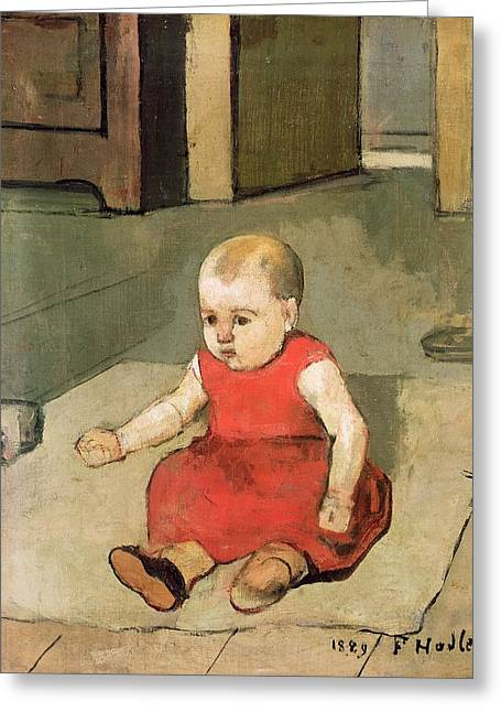 Little Hector On The Floor, 1889 Greeting Card