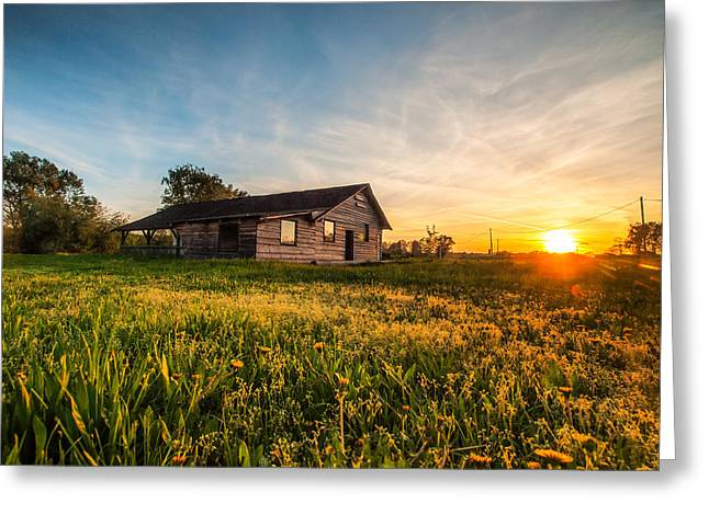 Little House On The Prairie Greeting Card by Davorin Mance