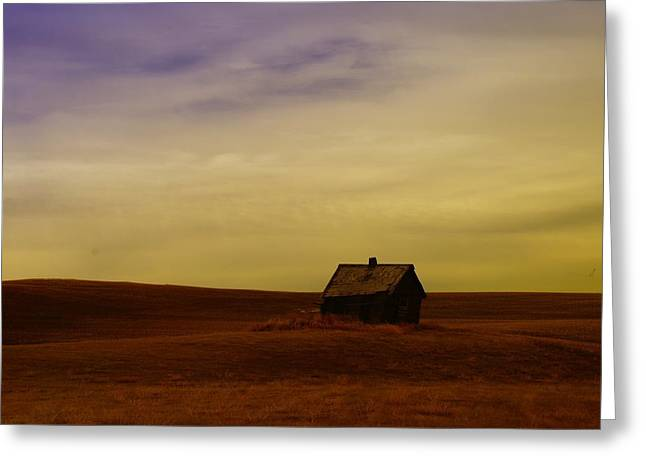 Little House On The Prairie  Greeting Card by Jeff Swan