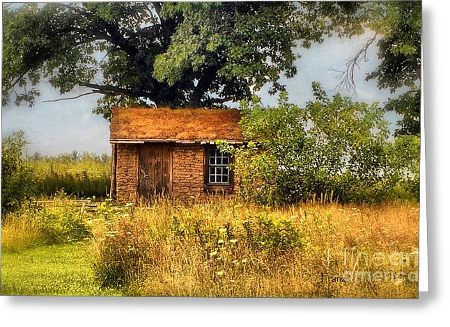 Greeting Card featuring the photograph Little House On The Prairie by Peggy Franz