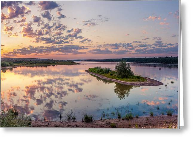 Greeting Card featuring the photograph Little Island On Sunset by Dmytro Korol