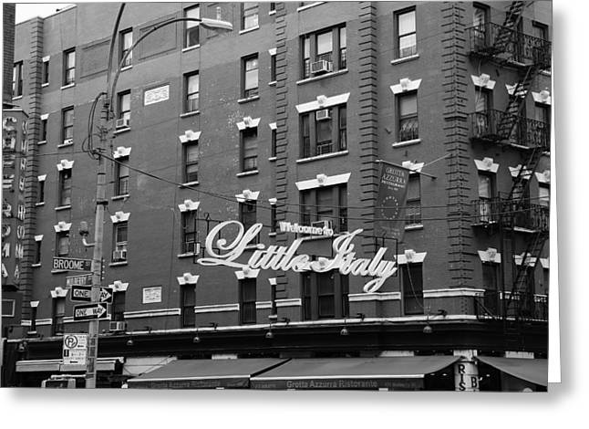Little Italy New York 1b Greeting Card by Andrew Fare
