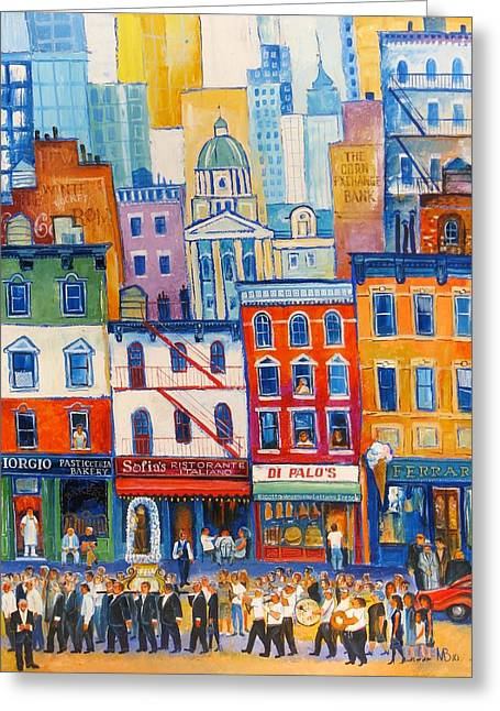 Little Italy New York Greeting Card