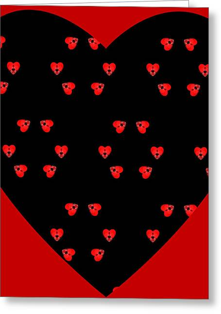Little Kaleidoscope Hearts Greeting Card by Pete Trenholm