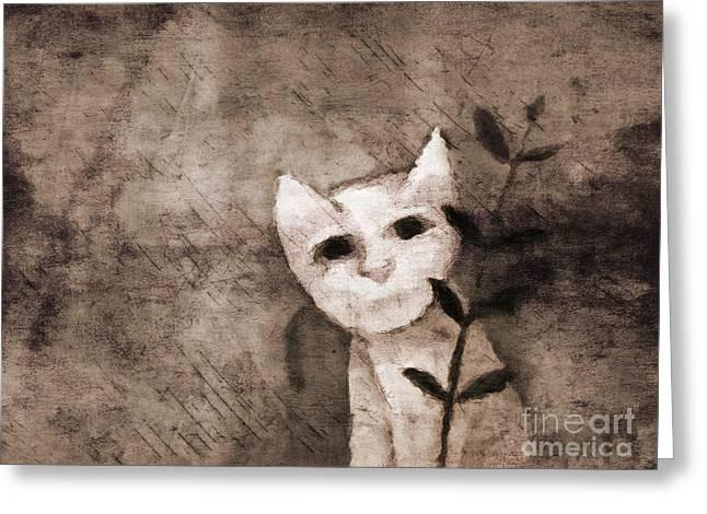 Little Kitten Greeting Card by Lutz Baar
