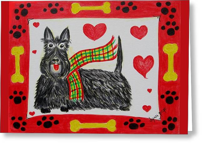 Little Lassie Greeting Card by Diane Pape