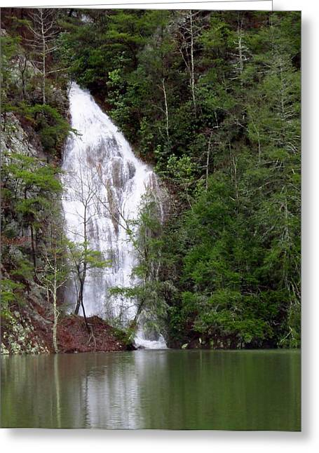 Little Laurel Branch Falls Greeting Card