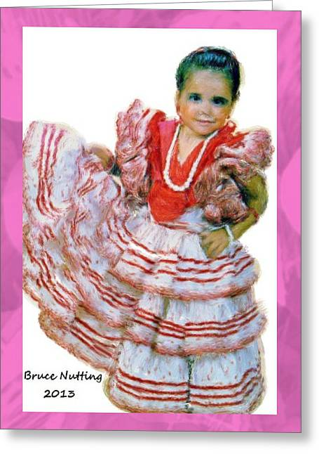 Greeting Card featuring the painting Little Lidia by Bruce Nutting