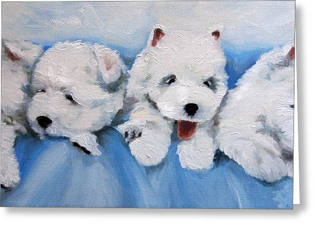 Little Litter Greeting Card by Mary Sparrow
