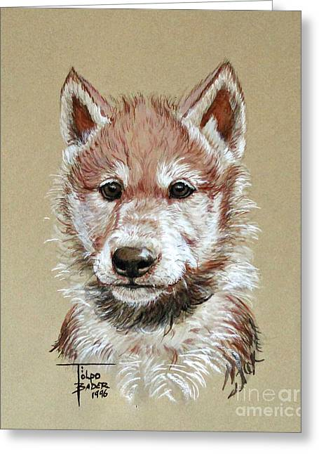 Little Lobo Greeting Card
