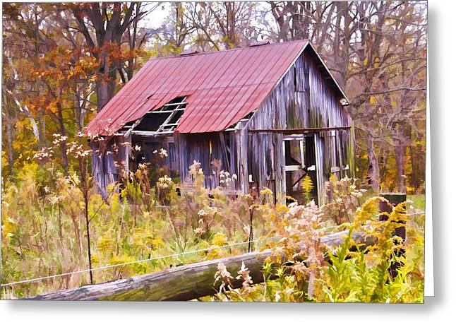 Little Lost Barn Greeting Card