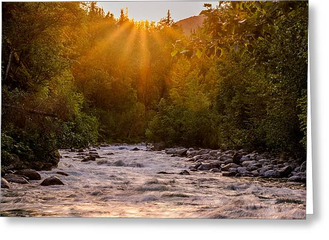 Little Matsu River Greeting Card by Jeff Ehlers