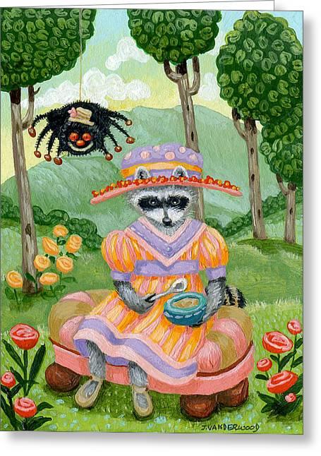 Little Miss Raccoon Muffett Greeting Card