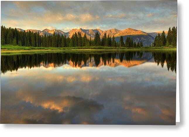 Little Molas Lake At Sunset Greeting Card