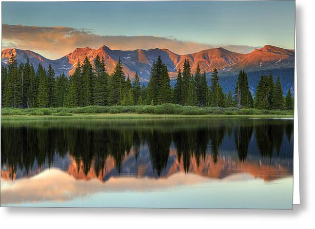 Little Molas Lake Sunset 2 Greeting Card