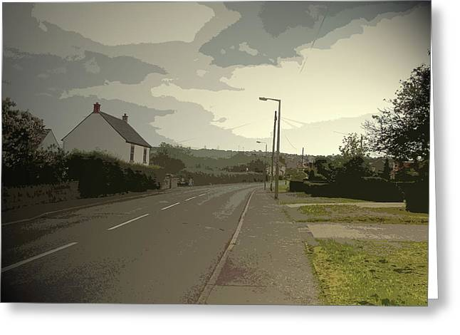 Little Morton Road In North Wingfield, Heading Greeting Card