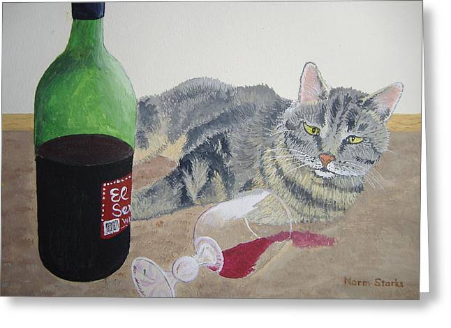 Little Ol' Wine Drinker Me Greeting Card by Norm Starks