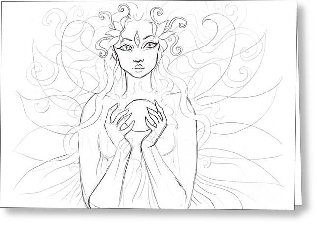 Little Piece Of The Universe Sketch Greeting Card by Coriander  Shea