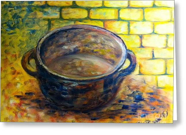 Little Pot Greeting Card by B Russo